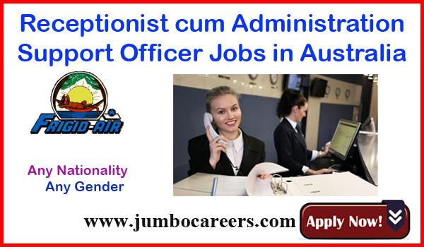Australian receptionist jobs for Indians, office job vacancies in Australia,