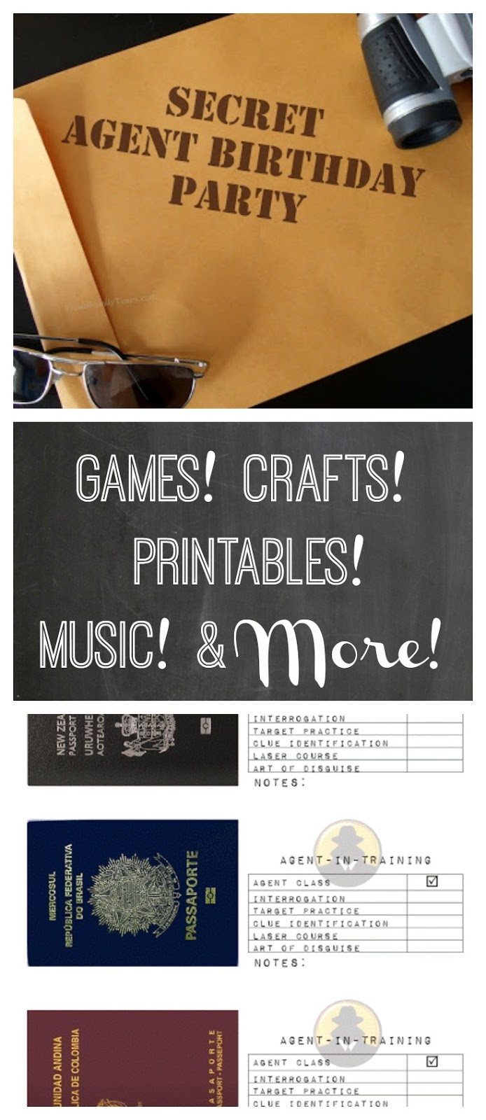 Secret Agent Birthday Party Ideas Printables Games And