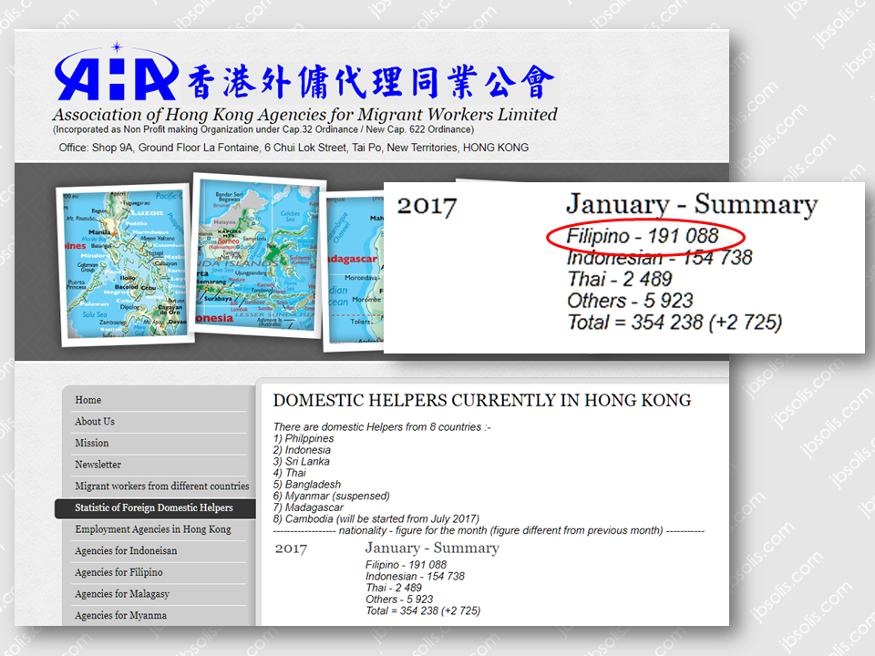 large percentage of Filipina domestic workers can be found in Hong Kong.  According to Association of Hong Kong Agencies (AHKA) data, the number of documented Filipina domestic workers in the region reached almost about 200,000 as of January 2017. This list does not include the undocumented ones. They are mothers who left their own children and household to take care of someone else's home and kids for the promise of better earnings. They don't care if they are being humiliated or discriminated. All they know is that they are doing the sacrifice for the betterment of the future of their family back home.    Sponsored Links Justin Baggio Cheung, 23, said he had long taken an interest in the working conditions of domestic workers in Hong Kong. Living with Filipina nanny around, he grew up with her guidance and care.  Teresita Lauang, now aged 64, arrived in Cheung's home when he was only one month and two weeks old, having left her two children back in the Philippines.   READ: Bringing Back the OFWs Home, Still Top Priority Of The Duterte Gov't   Justin is a son of Hong Kong film director Alfred Cheung Kin-ting. He has finished editing a documentary that tackles the condition of domestic workers in Hong Kong.  Most of them were experiencing racism and discrimination. Yes, even in a Hong Kong textbook, the portrayal of a Filipino is just lowly domestic helpers.  Justin realized that they are more than domestic workers and how most people in Hong Kong treat them is very wrong. It just need to end somehow or at least make them realize their value as human being.  We just hope that somehow this documentary would open the minds of the employers of the domestic workers, not only in Hong Kong but to every part of the world, to treat them well. They are house helpers, not slaves and they never deserve to be treated wrongly, realizing their contribution to instill values in the minds of the young children they are taking care of. Advertisement Read More:          ©2017 THOUGHTSKOTO
