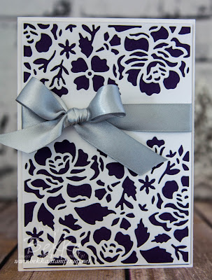 Stunning and Simple Card Made Using The Detailed Floral Thinlit Die from Stampin' Up! UK  Ideal for weddings and any other occasions