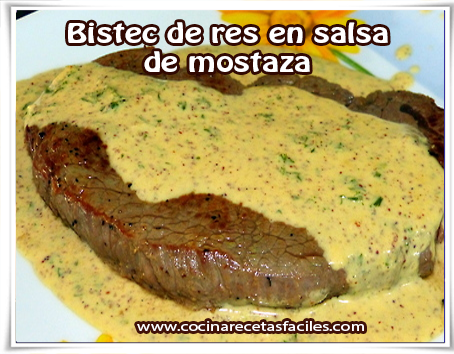 La carne de res se puede disfrutar en muchas presentaciones, y una de ellas, los bistec de res en salsa de mostaza es una de las comidas mexicanas más apetitosas,  su preparación es sencilla, así que prueba a realizar en casa, para una cena en familia.
