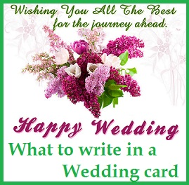 there are many ways to express your happiness and well wishes for them either personally or through sending the couple your well wishes