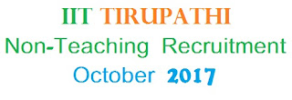 IIT Tirupati Recruitment Notification 2017: Assistant Librarian, Junior Technician Vacancy - Details
