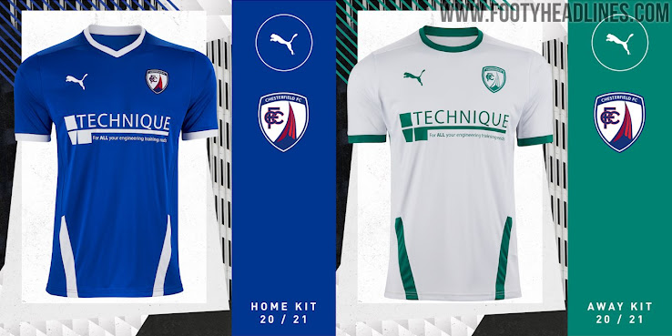 Puma Chesterfield 20-21 Home & Away Kits Revealed - Footy ...