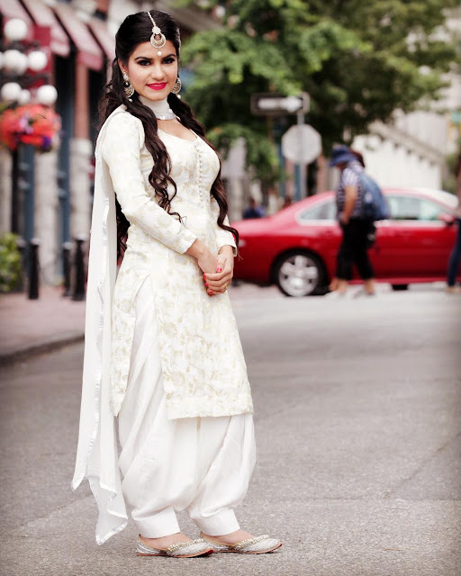 Beautiful Kaur B Wallpapers in Full White Punjabi Suit Images- picpile.in