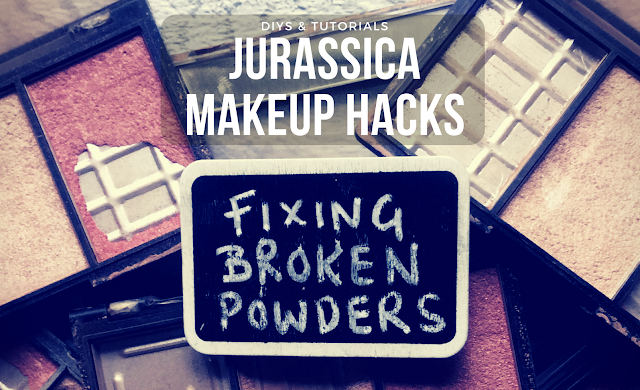 makeup DIYs hacks and tutorials. How to fix broken eyeshadows and compact powders