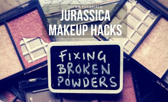 makeup DIYs hacks and tutorials. How to fix broken eyeshadows and compact powders