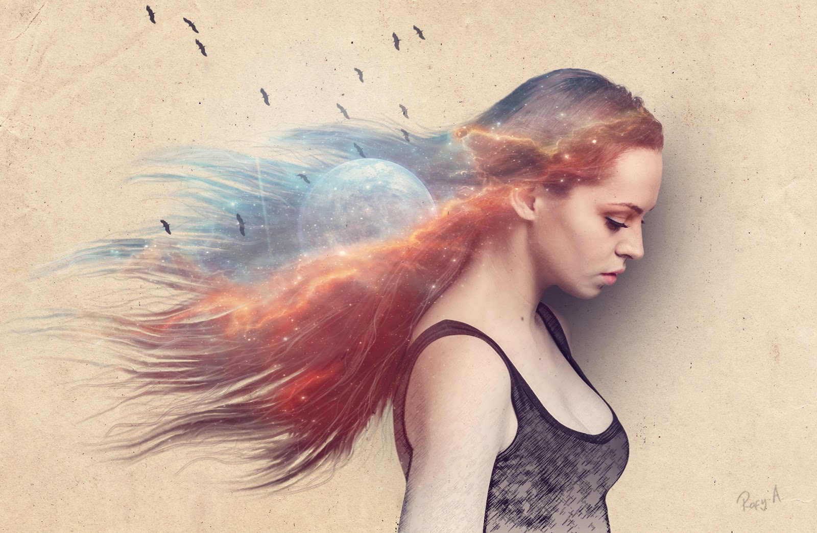 Abstract galaxy hair photo effects photoshop tutorial rafy a abstract galaxy hair photo effects photoshop tutorial baditri Images