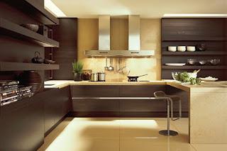 Cocina color marrón
