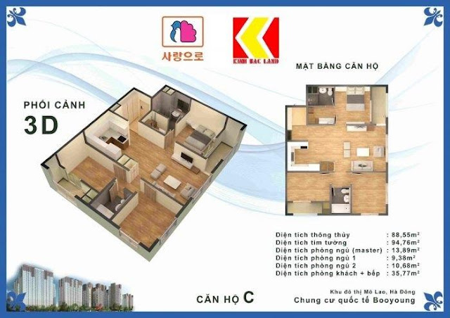 Chọn căn hộ Chung cư Booyoung Hình 3