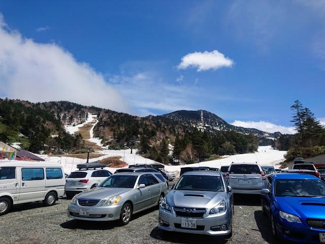 志賀草津高原ルート 横手山スキー場中間地点