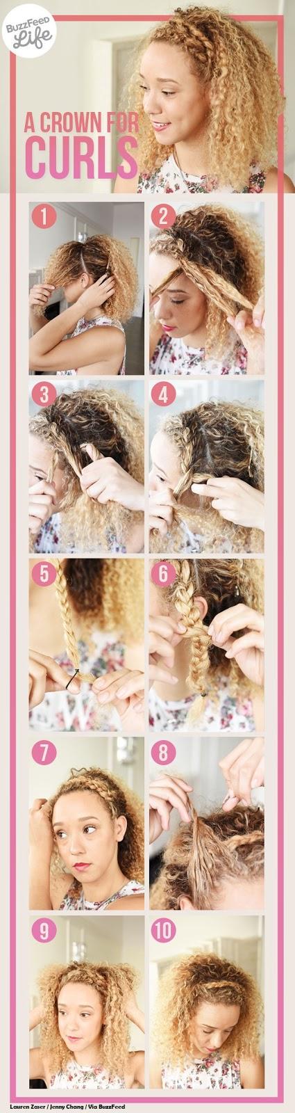 se coiffer en 5 minutes tutorial cheveux bouclés