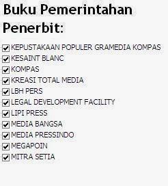 Buku Pemerintahan Penerbit Kompas, Kreasi Total Media, Media Bangsa Online Murah