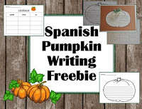 https://www.teacherspayteachers.com/Product/Spanish-Pumpkin-Writing-Stem-and-Paper-Freebie-2827689