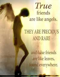 Quotes about friends:True friends are like angels, they are precious and rare and falls friends are like leaves, found everywhere.