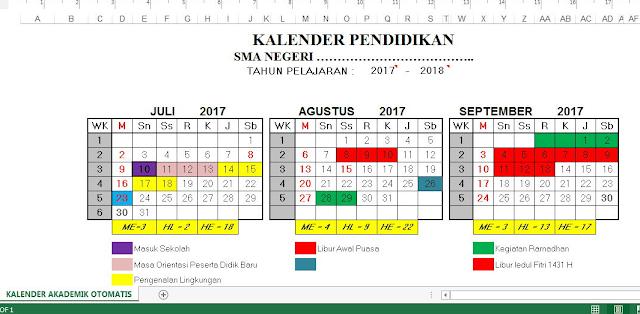 Aplikasi Kalender Pendidikan Tahun Ajar Baru 2017/2018 untuk Semua Jenjang