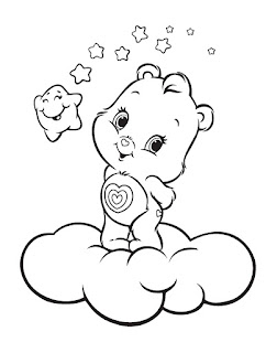 Cute Bear And Stars Coloring Pages