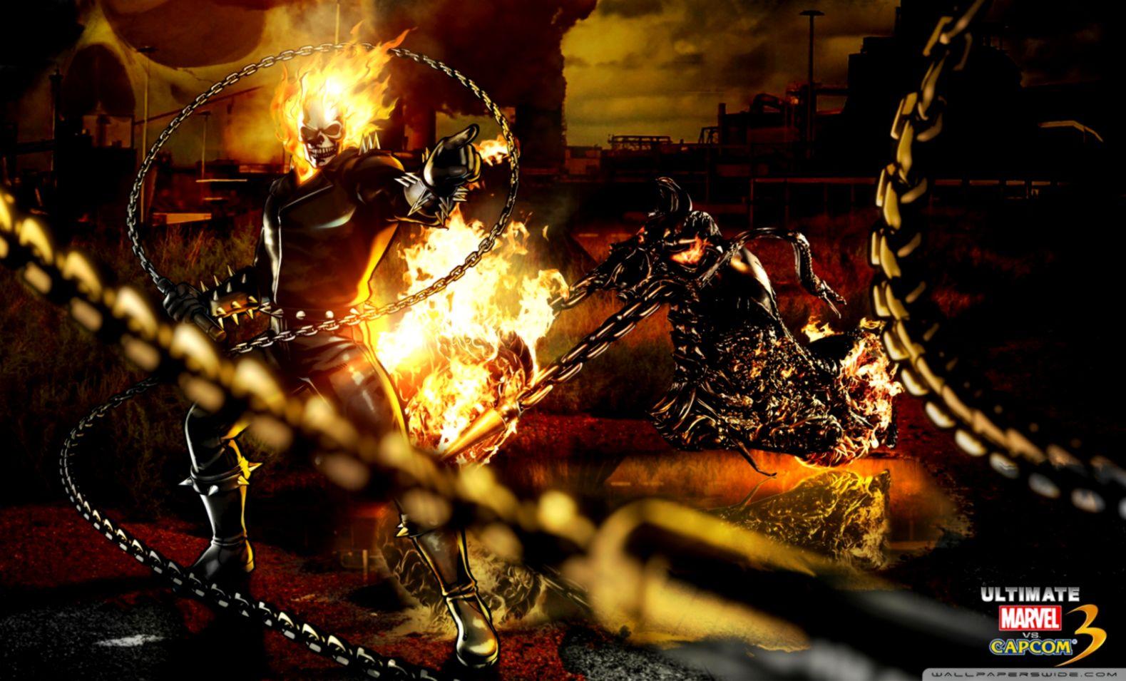 Ghost Rider Marvel Vs Capcom Wallpaper Hd Wallpapers Insert