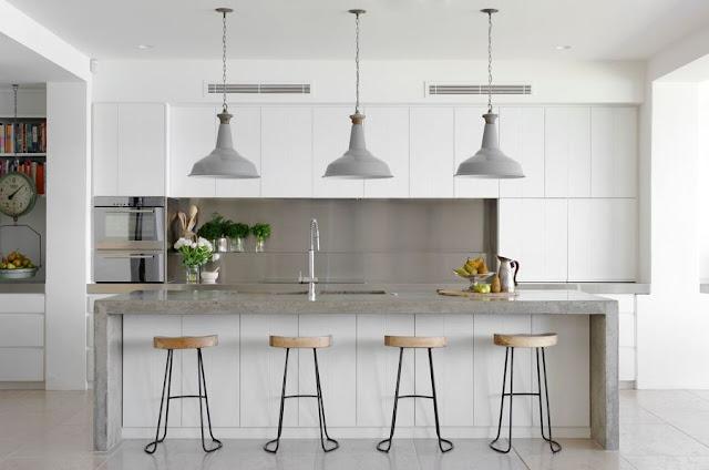 Frontal acero inoxidable para la cocina