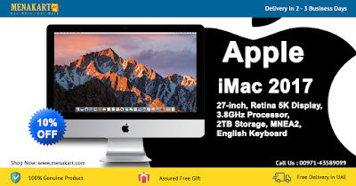 Apple iMac 2017, 21.5-inch, Retina 4K Display, 3.4GHz Processor, 1TB Storage
