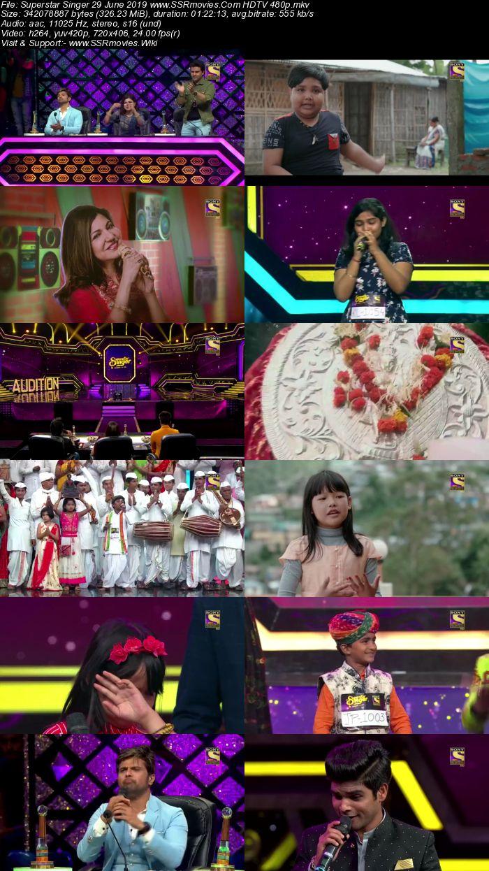 Superstar Singer 29 June 2019 HDTV 480p Full Show Download