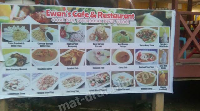 Harga Makan Murah di Coral Bay Pulau Perhentian Terengganu