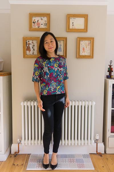 Simplicity 1366 top silk floral