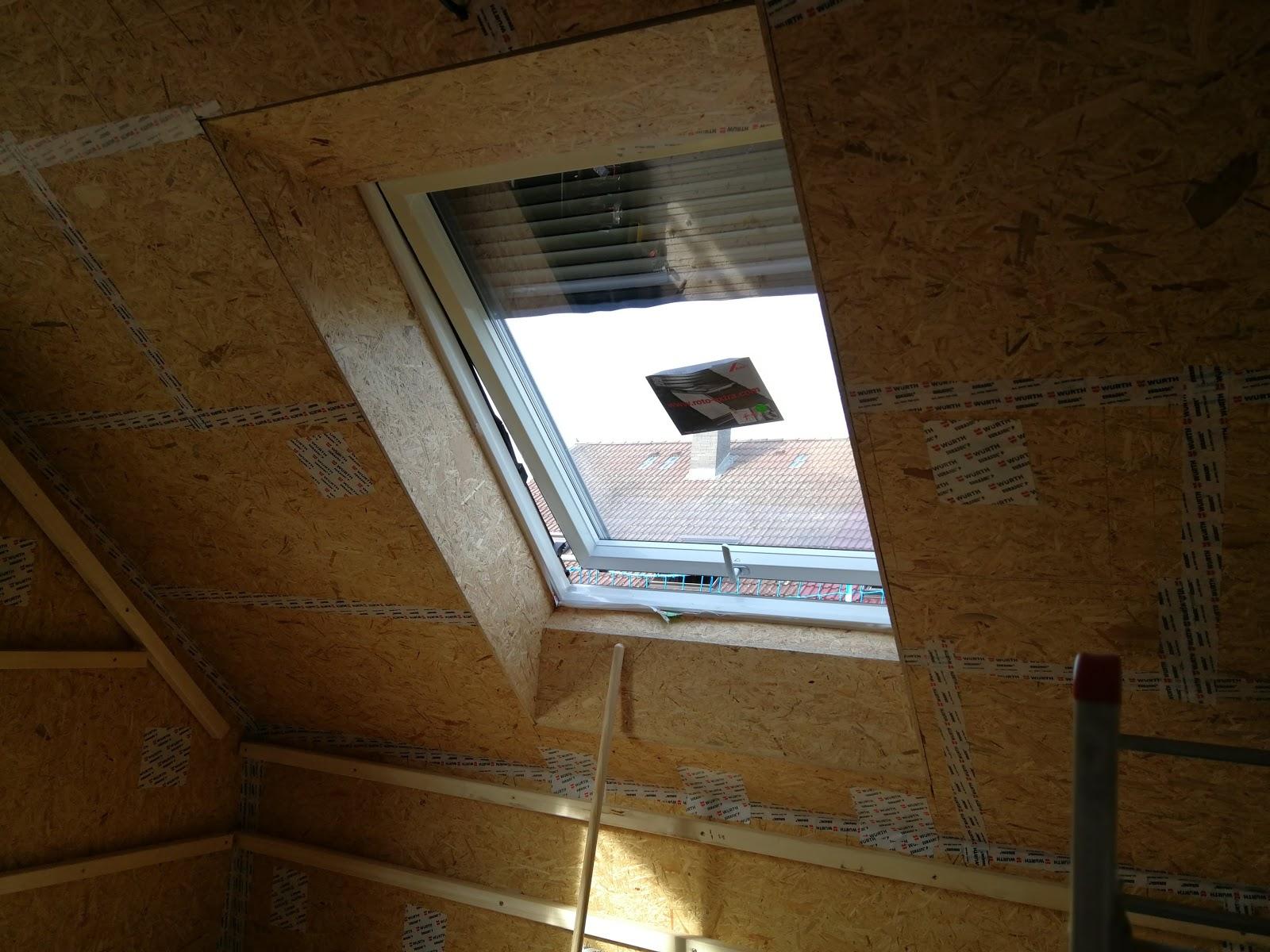 dachfenster innen verkleiden. elegant profile im spitzboden with