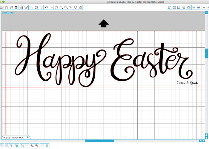FREE Hand-Lettered Happy Easter Cut File | pitterandglink.com
