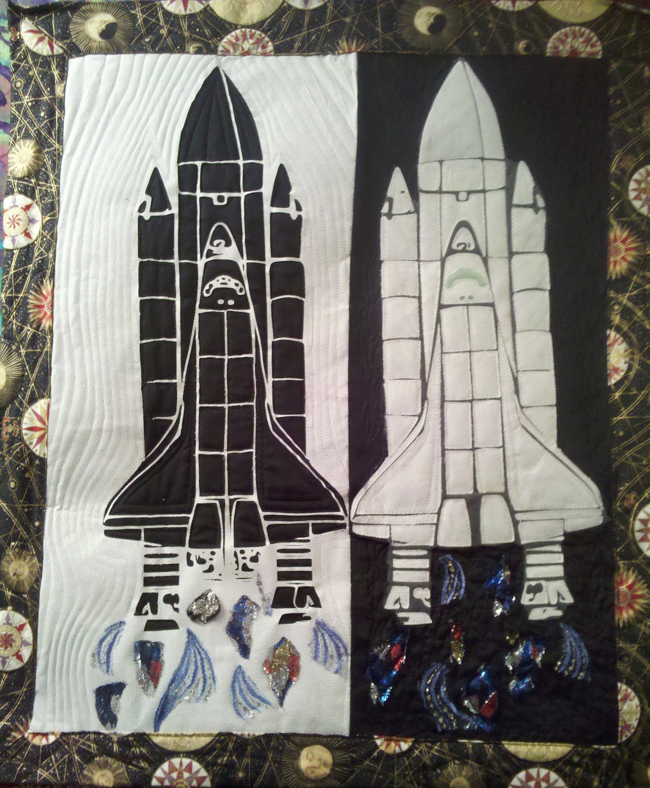 space shuttle quilt pattern - photo #44