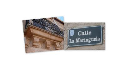 decoración de balcón y calle La Maringuela
