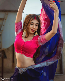 Ruma Sharma in Red Choli Blouse .xyz Exclusive Pics