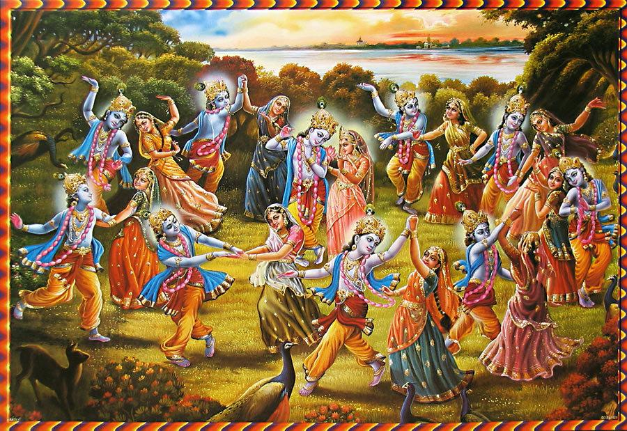 Radha-Krishna leela bhajan: shri krishna maha raas leela