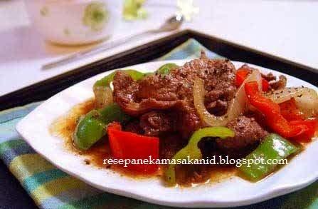 cara membuat daging sapi lada hitam empuk enak sederhana ala resto