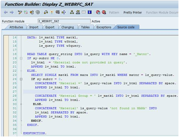 MY ABAP: webRFC: Calling SAP function module from HTTP link