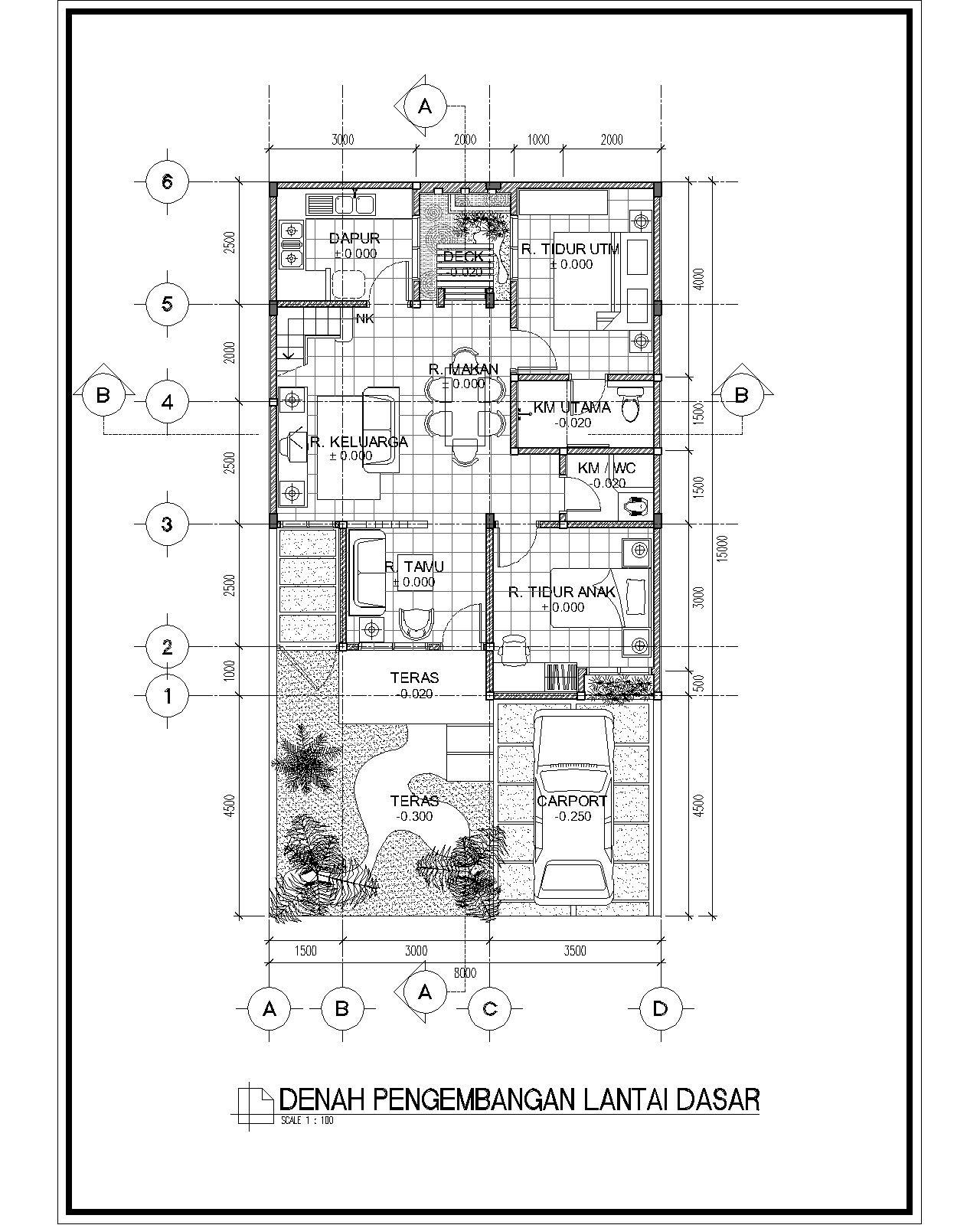Image Result For Denah Rumah Lantai Cad