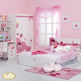 Gambar Kamar Hello Kitty Warna Pink 8