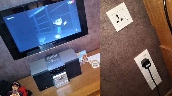 Kemudahan dalam bilik deluxe Hotel Concorde KL