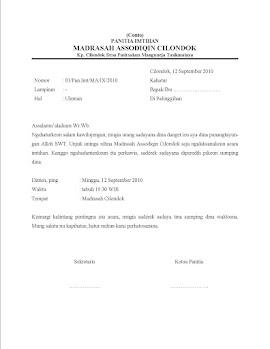 Contoh Surat Bahasa Sunda