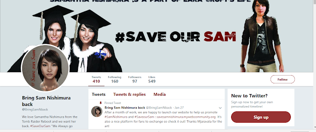 Save Our Sam Twitter Page