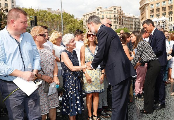 King Felipe VI and Queen Letizia of Spain attended memorial ceremony for victims of Barcelona and Cambrils terrorist attack