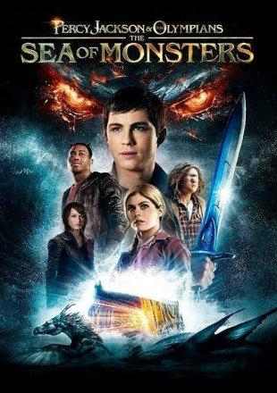 Poster of Percy Jackson Sea of Monsters 2013 Full Movie BRRip 480p 300Mb ESub