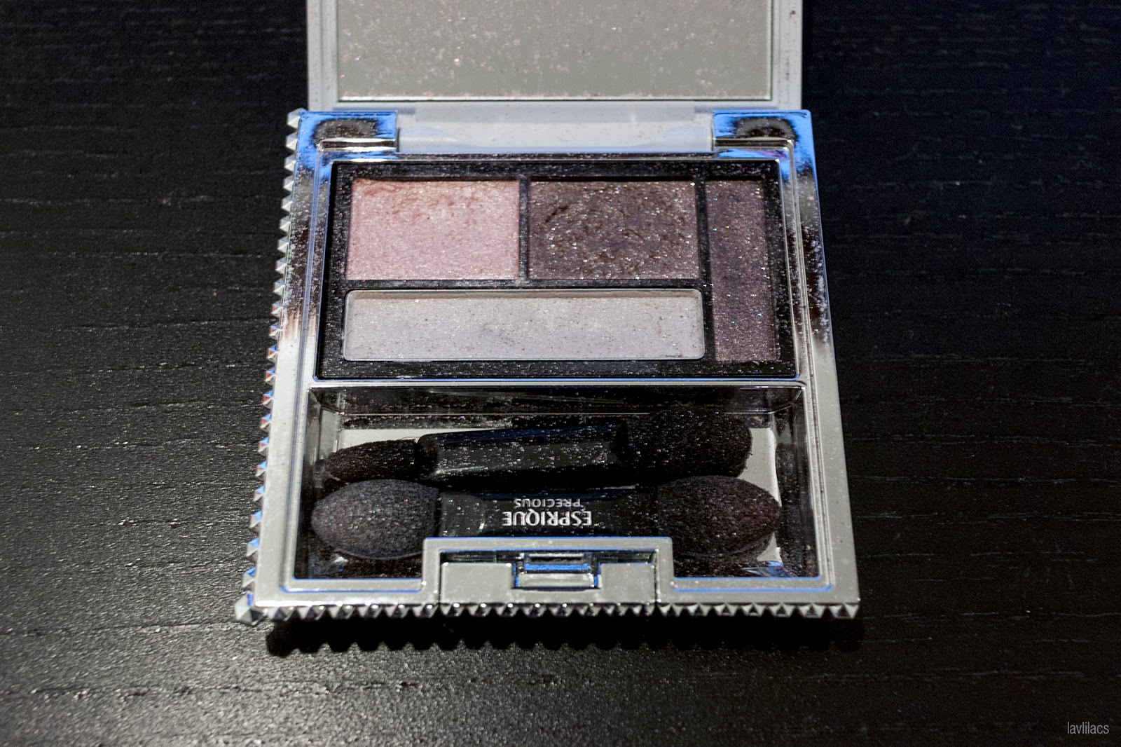 Esprique Precious eye palette, Japanese cosmetics, Project Make a Dent end results