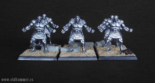 Kings of War - Forces of Nature - Earth Elementals - Abyssal Dwarf Lesser Obsidian Golems - Elementales de Tierra de Fuerzas de la Naturaleza - Golems de Obsidiana de Enanos Abisales