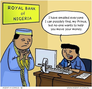 Nigerian Prince comic strip joke