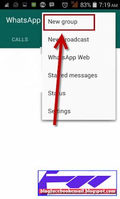 cara membuat grup di aplikasi whatsapp android