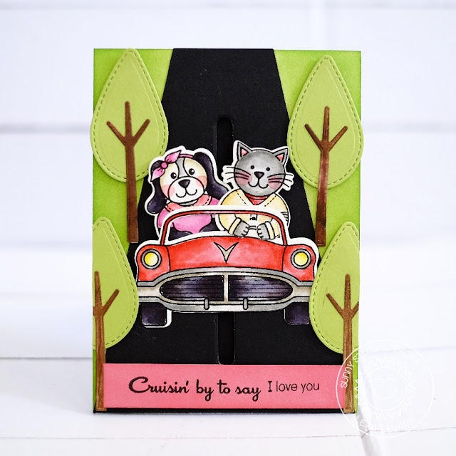 Sunny Studio Stamps:  Sock Hop Cruisin' By To Say I Love You card by Lexa Levana