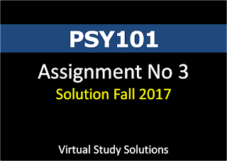 PSY101 Assignment No 3 Solution Fall 2017