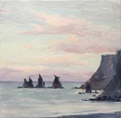 #115 'Sunrise Vik, Iceland' 8×8″