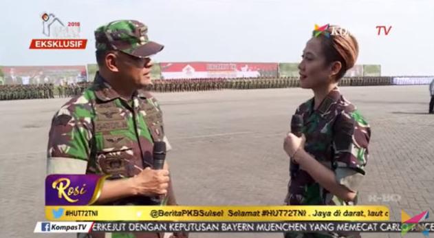 Usaha Rosi KompasTV Pojokkan dengan Isu Politik Gagal, Panglima TNI Jawab dengan Cerdas!